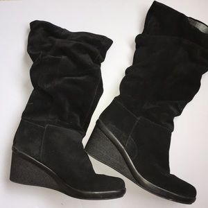 🖤EUC NINE WEST BLACK SUEDE BOOTS
